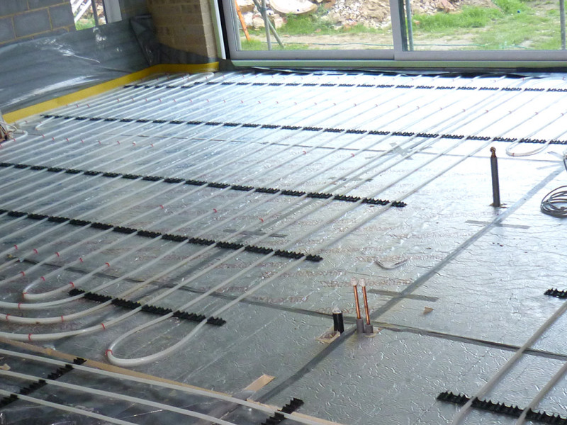 Underfloor Heating System for kitchen in West Sussex